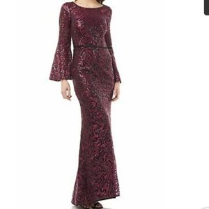 Carmen Marc Valvo Infusion Sequin Embroided Gown 2